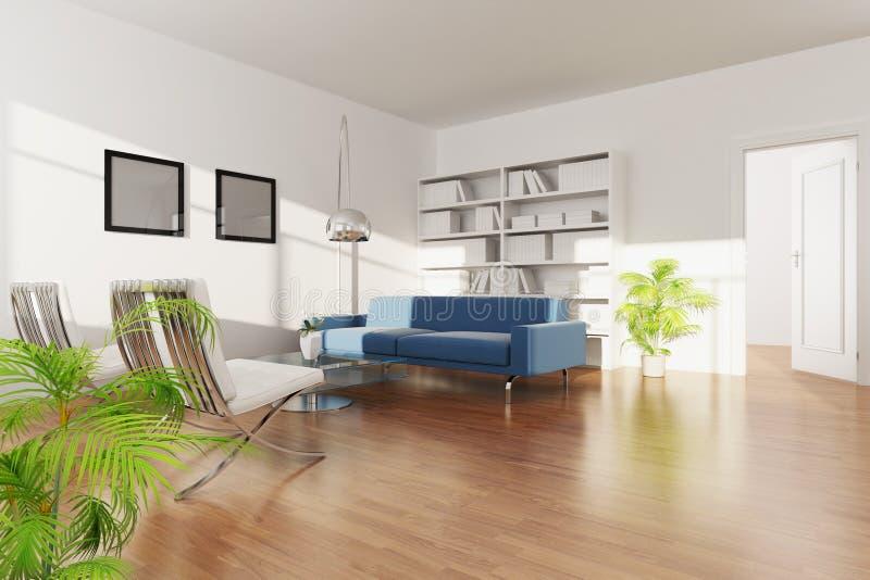 σύγχρονο δωμάτιο διαβίωσ& διανυσματική απεικόνιση