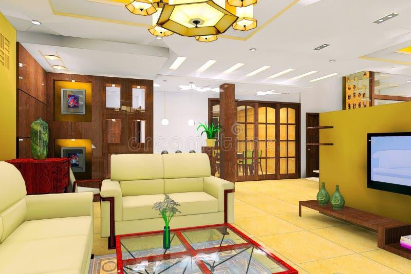 σύγχρονο δωμάτιο διαβίωσ& απεικόνιση αποθεμάτων
