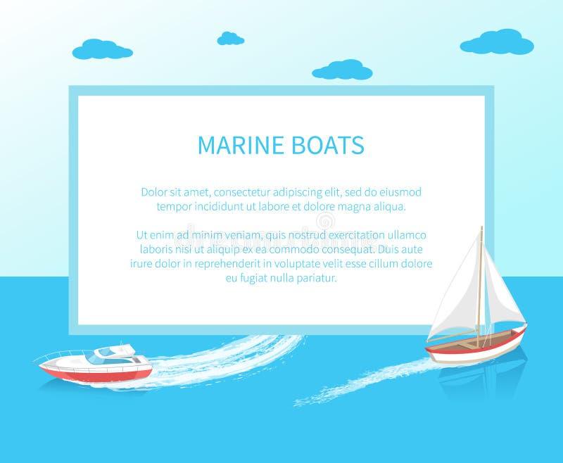 Σύγχρονο εικονίδιο σκαφών γιοτ θαλάσσιο ναυτικό προσωπικό απεικόνιση αποθεμάτων