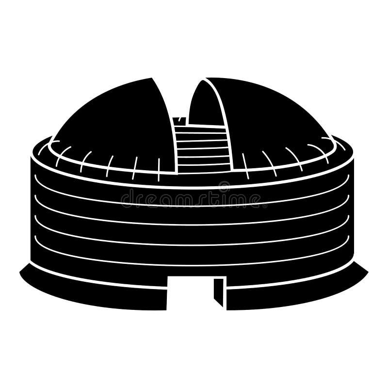 Σύγχρονο εικονίδιο χώρων θόλων, απλό ύφος διανυσματική απεικόνιση
