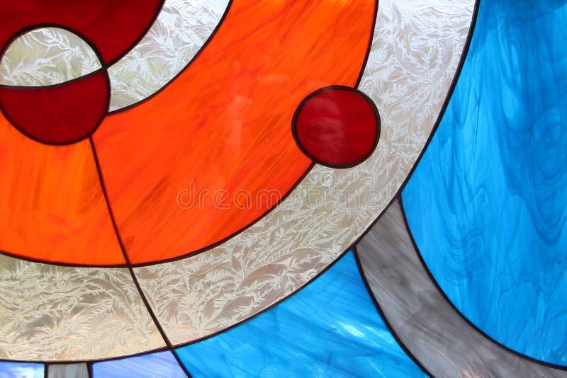 Σύγχρονο λεκιασμένο περίληψη παράθυρο γυαλιού στοκ φωτογραφίες με δικαίωμα ελεύθερης χρήσης