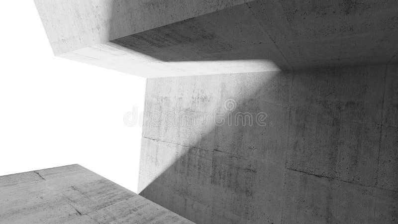 Σύγχρονο ελάχιστο υπόβαθρο αρχιτεκτονικής, τρισδιάστατο διανυσματική απεικόνιση