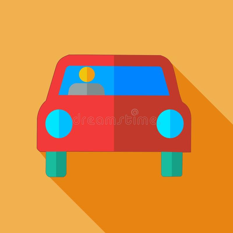 Σύγχρονο επίπεδο αυτοκίνητο εικονιδίων έννοιας σχεδίου ελεύθερη απεικόνιση δικαιώματος