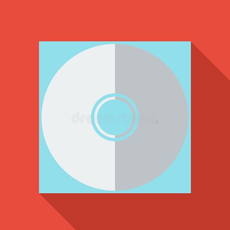 Σύγχρονο επίπεδο εικονίδιο έννοιας σχεδίου Cd dvd ελεύθερη απεικόνιση δικαιώματος