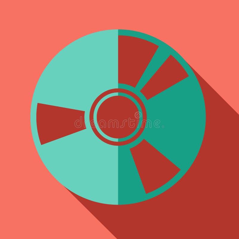 Σύγχρονο επίπεδο εικονίδιο έννοιας σχεδίου Cd dvd διανυσματική απεικόνιση