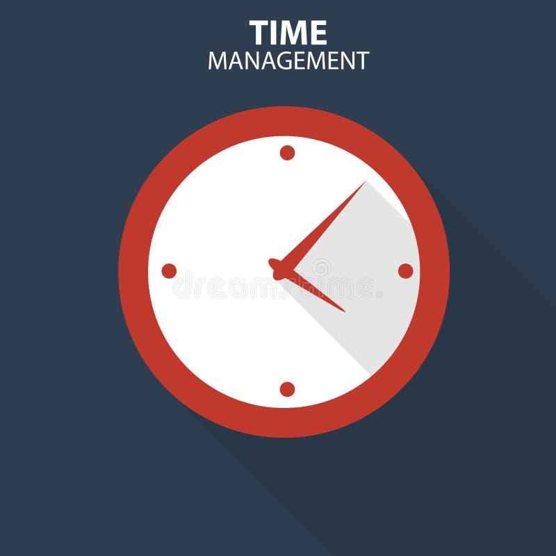Σύγχρονο επίπεδο διανυσματικό εικονίδιο χρονικής διαχείρισης για τον Ιστό διανυσματική απεικόνιση