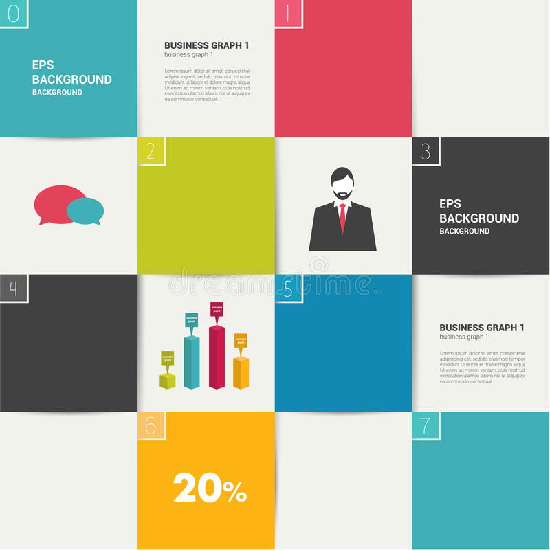 Σύγχρονο επίπεδο πρότυπο Ζωηρόχρωμο minimalistic έμβλημα επιλογής απεικόνιση αποθεμάτων