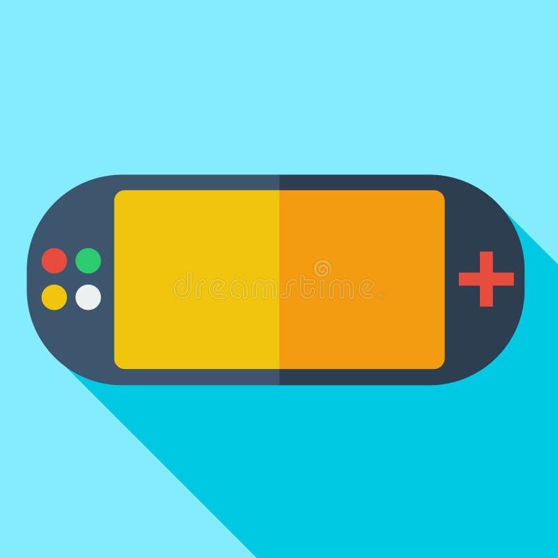 Σύγχρονο επίπεδο τηλεοπτικό παιχνίδι εικονιδίων έννοιας σχεδίου ελεύθερη απεικόνιση δικαιώματος