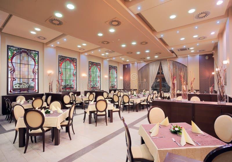 Σύγχρονο εσωτερικό εστιατορίων ξενοδοχείων στοκ εικόνες με δικαίωμα ελεύθερης χρήσης
