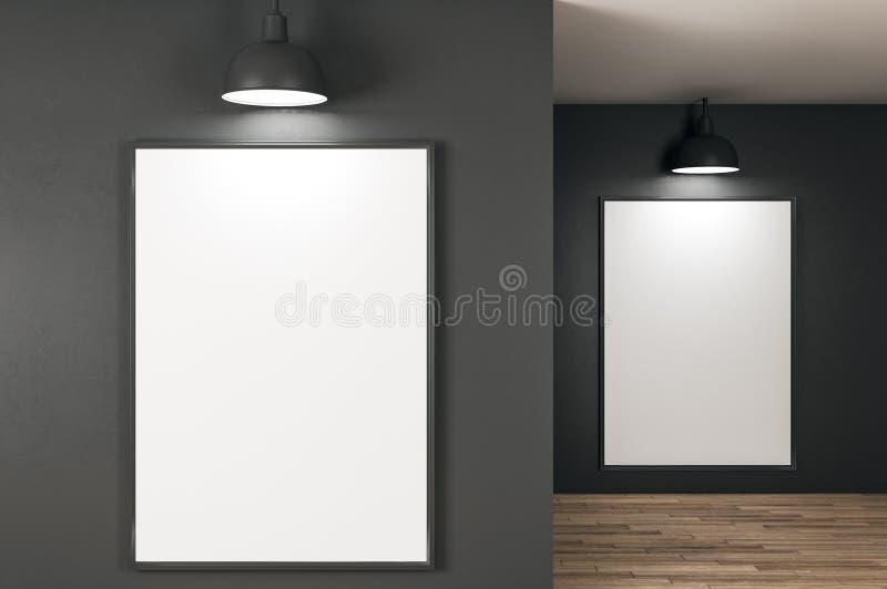 Σύγχρονο εσωτερικό με τον πίνακα διαφημίσεων ελεύθερη απεικόνιση δικαιώματος