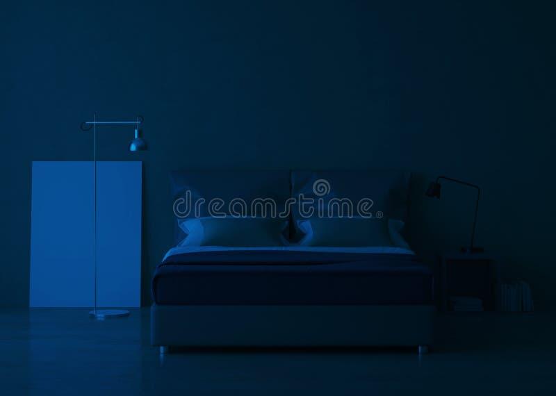 Σύγχρονο εσωτερικό σπιτιών Εσωτερικό σχέδιο κρεβατοκάμαρων διανυσματική απεικόνιση