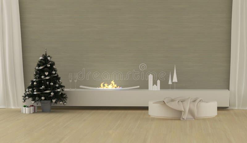 Σύγχρονο εσωτερικό Χριστουγέννων απεικόνιση αποθεμάτων