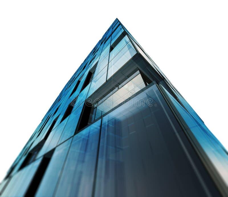 Σύγχρονο λευκό αρχιτεκτονικής που απομονώνεται απεικόνιση αποθεμάτων
