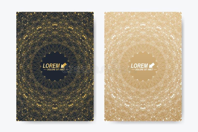 Σύγχρονο διανυσματικό πρότυπο για το φυλλάδιο, το φυλλάδιο, το ιπτάμενο, την κάλυψη, το περιοδικό ή τη ετήσια έκθεση A4 μέγεθος Ε διανυσματική απεικόνιση