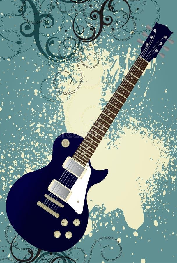 Σύγχρονο διανυσματικό υπόβαθρο μουσικής grunge απεικόνιση αποθεμάτων