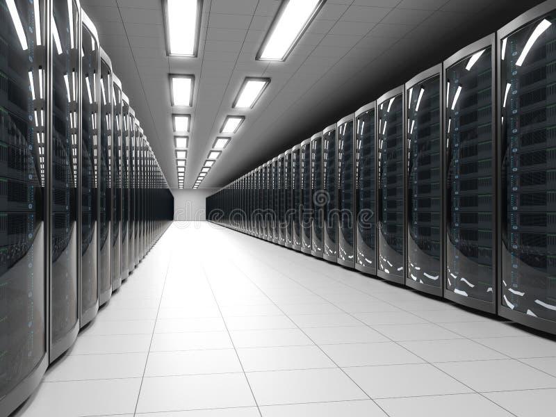 Σύγχρονο κέντρο δεδομένων διανυσματική απεικόνιση