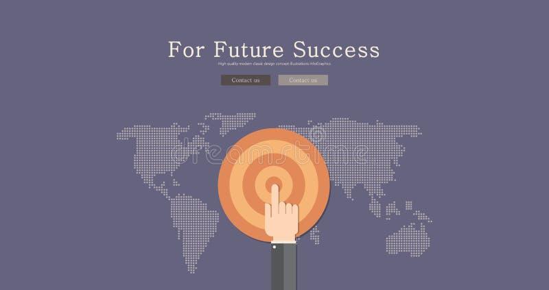 Σύγχρονο και κλασικό σχέδιο για τη μελλοντική έννοια επιτυχίας διανυσματική απεικόνιση