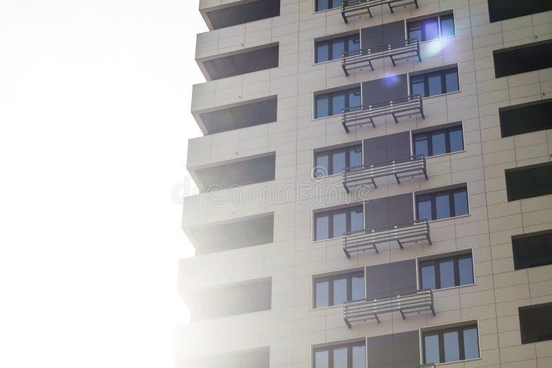 Σύγχρονο κατοικημένο κτήριο στοκ φωτογραφία με δικαίωμα ελεύθερης χρήσης