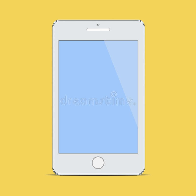 Σύγχρονο κενό κινητό έξυπνο τηλέφωνο νέο ψηφιακό Techno απεικόνιση αποθεμάτων