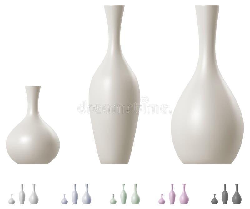 Σύγχρονο κεραμικό σύνολο βάζων στοκ εικόνα
