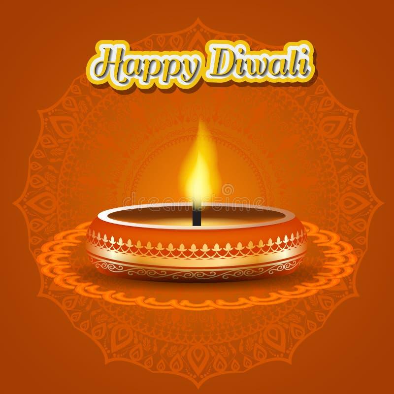 Σύγχρονο κομψό σχέδιο diwali με το κερί με χρυσό περίκομψο Καθιερώνον τη μόδα σχέδιο υποβάθρου Diwali επίσης corel σύρετε το διάν διανυσματική απεικόνιση