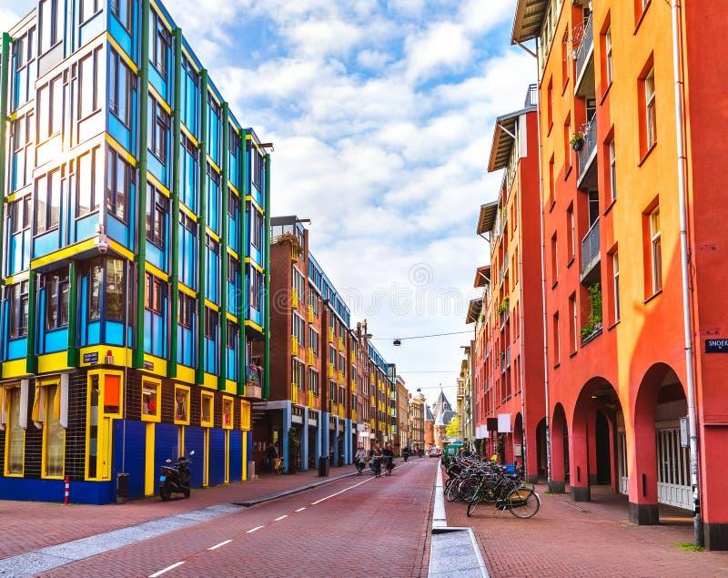 Σύγχρονο κτήριο αρχιτεκτονικής στο Άμστερνταμ Κάτω Χώρες αστικές στοκ εικόνες
