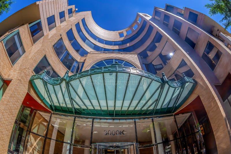 Σύγχρονο κτήριο στην ιστορική περιοχή της Τζωρτζτάουν Ουάσιγκτον στοκ εικόνες