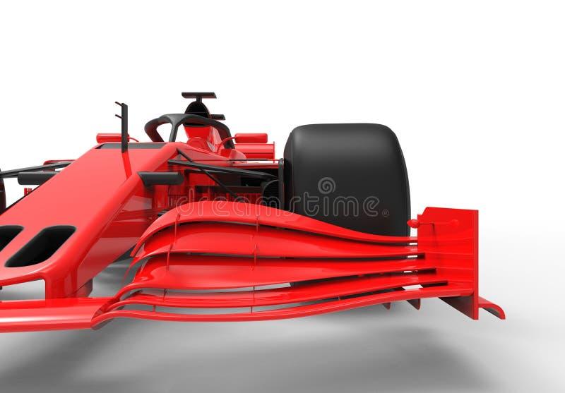 Σύγχρονο κόκκινο αθλητικό ράλι που απομονώνεται ελεύθερη απεικόνιση δικαιώματος