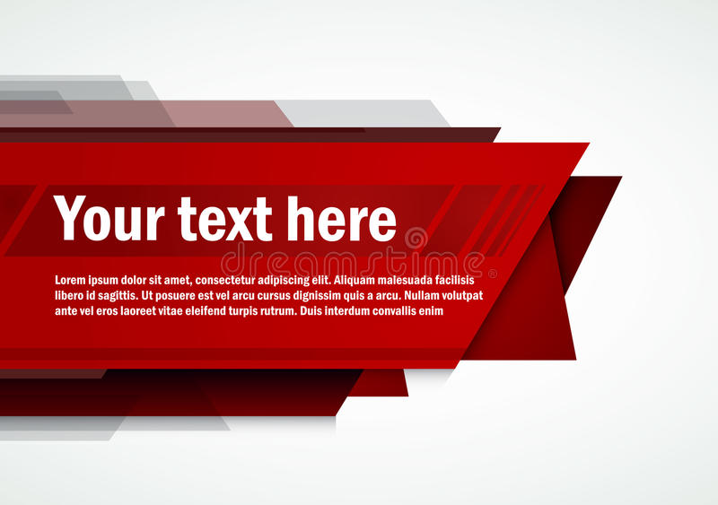 Σύγχρονο κόκκινο σχεδιαγράμματος διανυσματική απεικόνιση