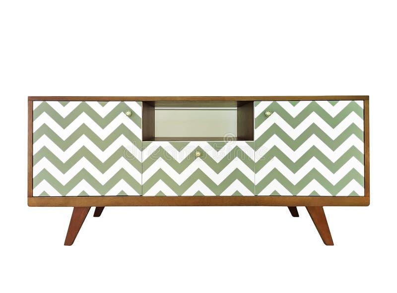 Σύγχρονο λευκό ξύλινο περίπτερο τηλεόρασης, γραφείο με κουτιά Μοντέρνος σχεδιαστής που απομονώνεται σε λευκό φόντο στοκ φωτογραφίες