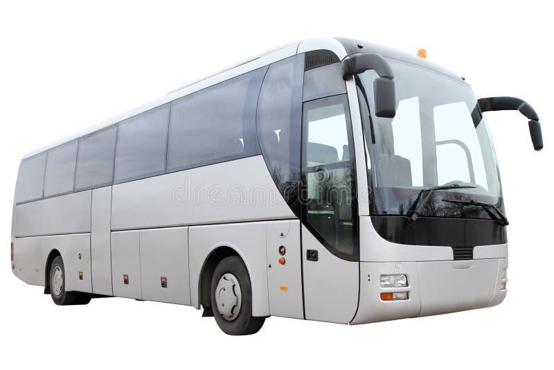Σύγχρονο λεωφορείο τουριστών στο άσπρο υπόβαθρο στοκ εικόνες