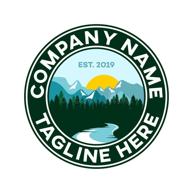 Σύγχρονο λογότυπο βουνών επίσης corel σύρετε το διάνυσμα απεικόνισης ελεύθερη απεικόνιση δικαιώματος