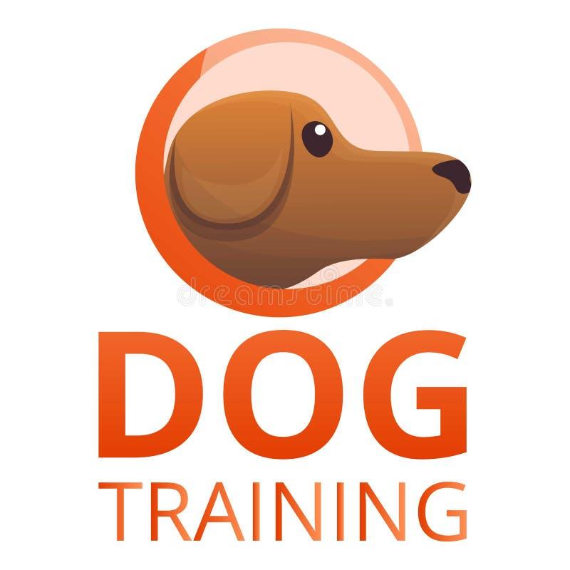 Σύγχρονο λογότυπο κατάρτισης σκυλιών, ύφος κινούμενων σχεδίων απεικόνιση αποθεμάτων