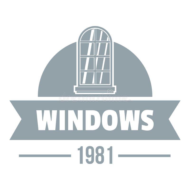 Σύγχρονο λογότυπο παραθύρων, γκρίζο μονοχρωματικό ύφος απεικόνιση αποθεμάτων