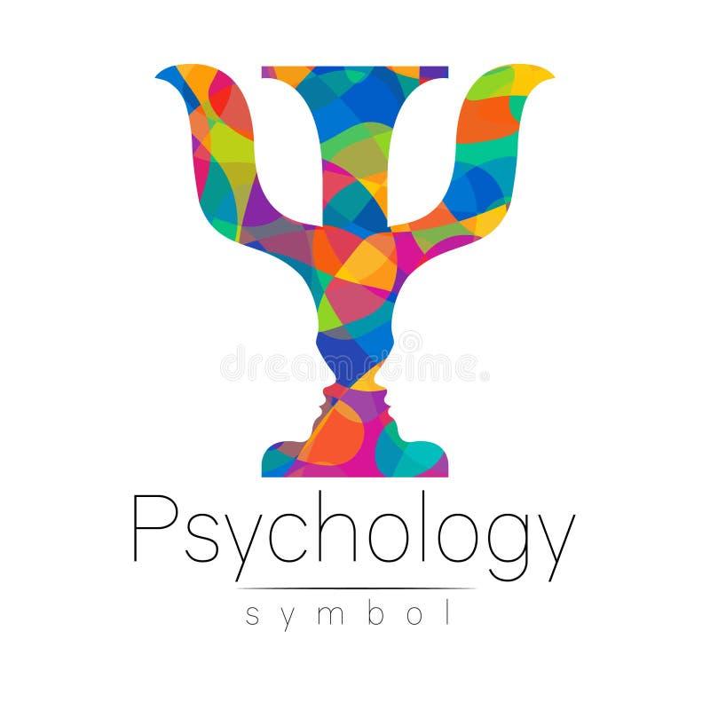Σύγχρονο λογότυπο της ψυχολογίας PSI Δημιουργικό ύφος Logotype στο διάνυσμα Έννοια σχεδίου Επιχείρηση εμπορικών σημάτων Φωτεινά χ ελεύθερη απεικόνιση δικαιώματος