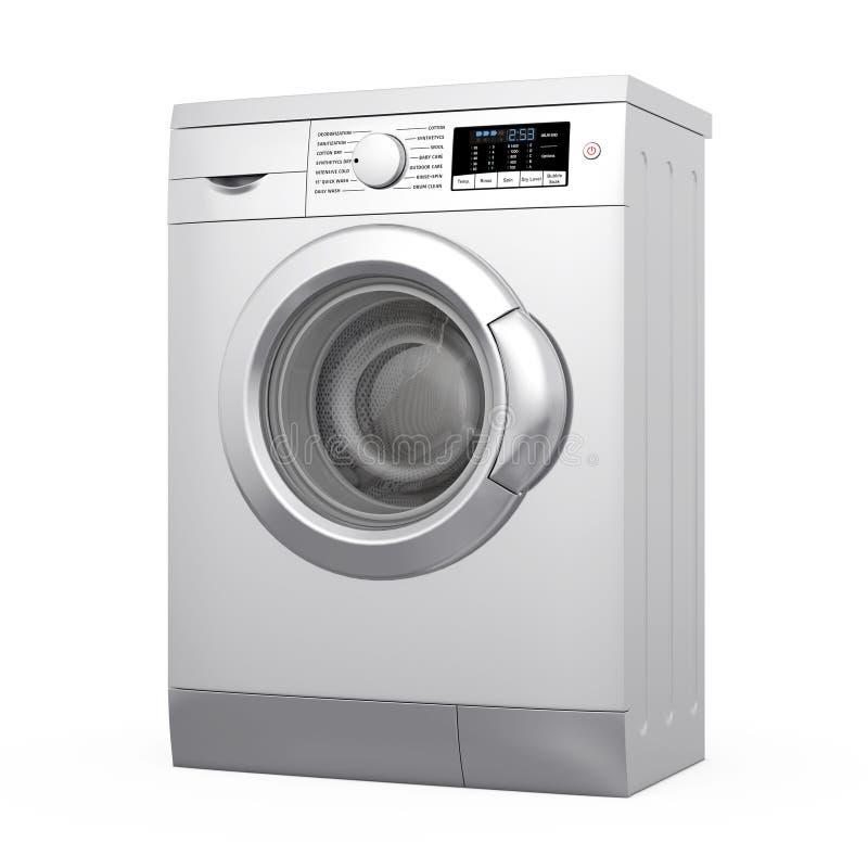 Σύγχρονο μεταλλικό πλυντήριο τρισδιάστατη απόδοση απεικόνιση αποθεμάτων
