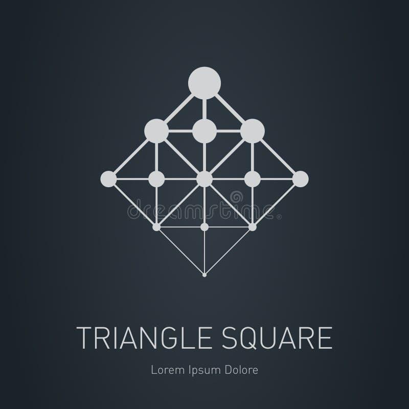 Σύγχρονο μοντέρνο λογότυπο Στοιχείο σχεδίου με τα τετράγωνα, τρίγωνα και ελεύθερη απεικόνιση δικαιώματος
