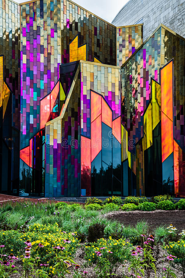 Σύγχρονο μουσείο αρχιτεκτονικής στην πόλη του Κάνσας στοκ εικόνες με δικαίωμα ελεύθερης χρήσης