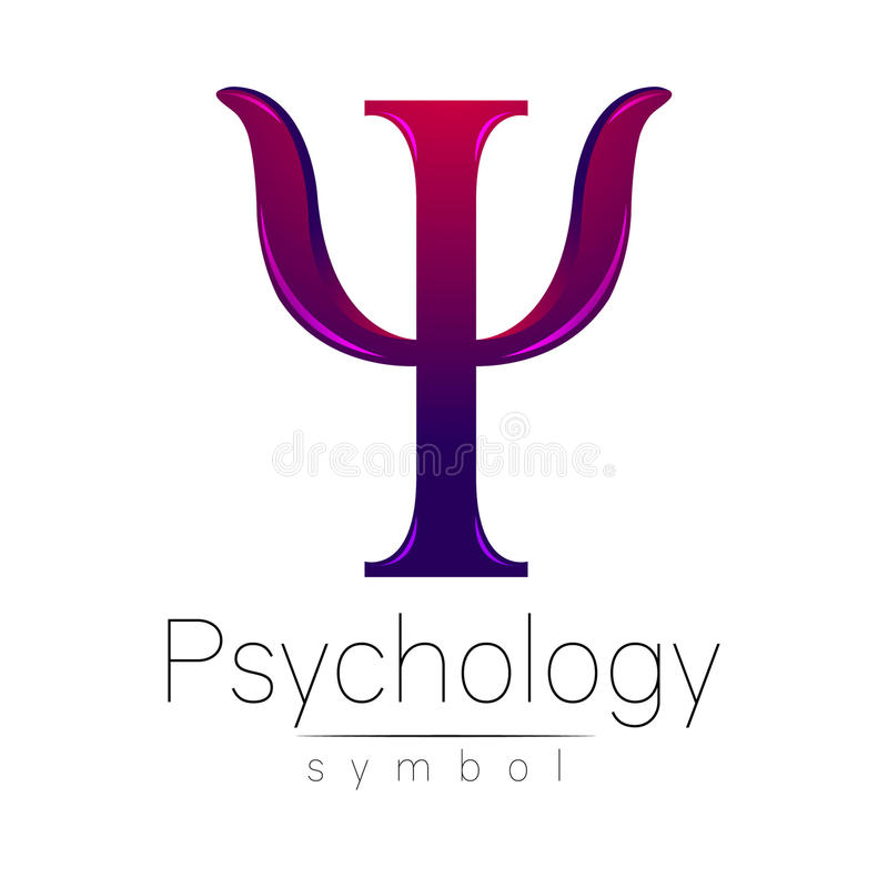 Σύγχρονο λογότυπο της ψυχολογίας PSI Δημιουργικό ύφος Logotype στο διάνυσμα απεικόνιση αποθεμάτων