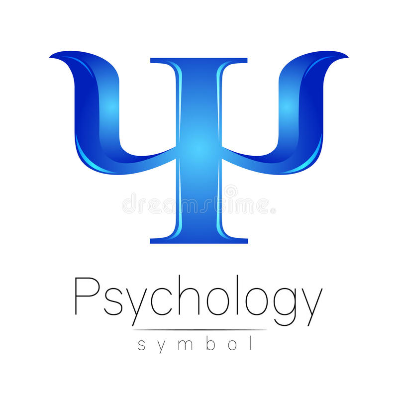 Σύγχρονο λογότυπο της ψυχολογίας PSI Δημιουργικό ύφος Logotype στο διάνυσμα Έννοια σχεδίου διανυσματική απεικόνιση