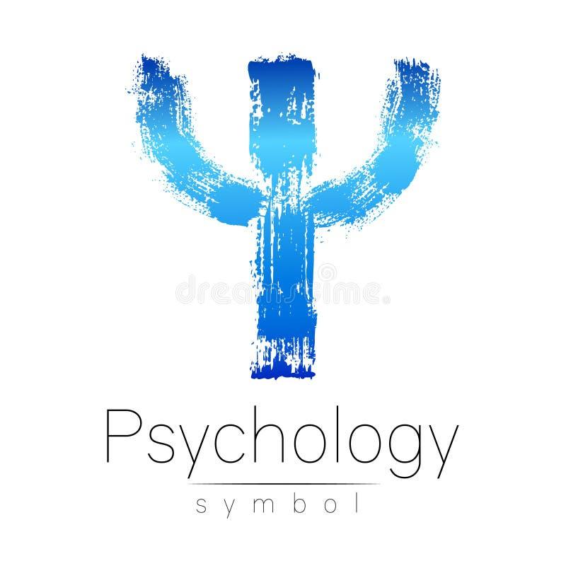 Σύγχρονο λογότυπο της ψυχολογίας PSI Δημιουργικό ύφος Logotype στο διάνυσμα Έννοια σχεδίου Επιχείρηση εμπορικών σημάτων Μπλε επισ απεικόνιση αποθεμάτων