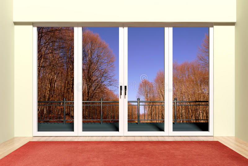 Σύγχρονο παράθυρο αργιλίου απεικόνιση αποθεμάτων