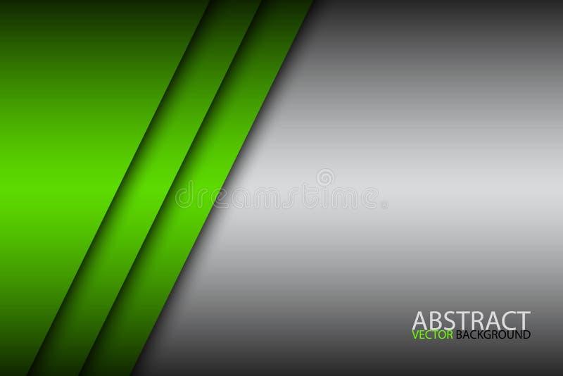 Σύγχρονο πράσινο αφηρημένο έγγραφο επικαλύψεων υποβάθρου με το κενό διάστημα απεικόνιση αποθεμάτων