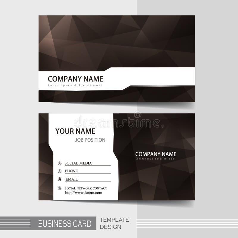 Σύγχρονο πρότυπο επαγγελματικών καρτών ελεύθερη απεικόνιση δικαιώματος