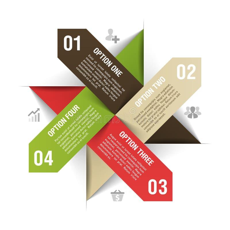Σύγχρονο πρότυπο επιχειρησιακού infographics απεικόνιση αποθεμάτων