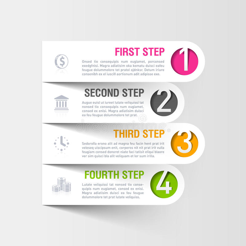 Σύγχρονο πρότυπο επιχειρησιακού infographics διανυσματική απεικόνιση