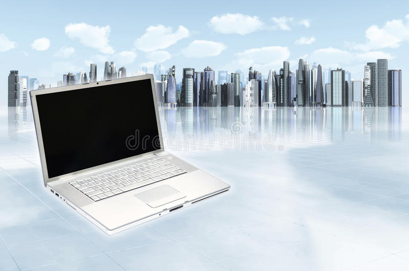 σύγχρονο πρότυπο επιχειρησιακών lap-top στοκ φωτογραφίες με δικαίωμα ελεύθερης χρήσης