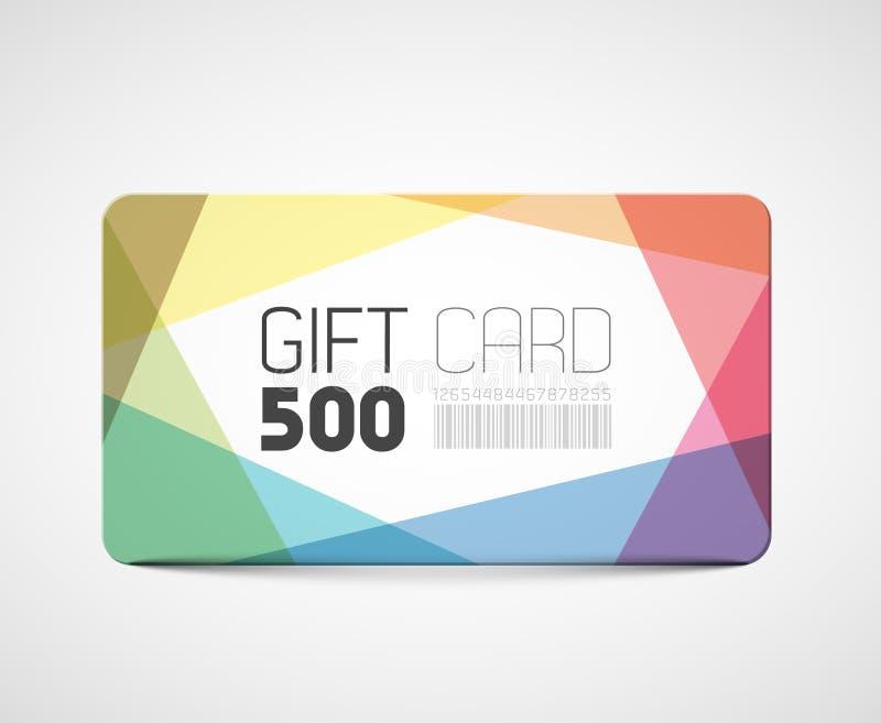Σύγχρονο πρότυπο καρτών δώρων απεικόνιση αποθεμάτων