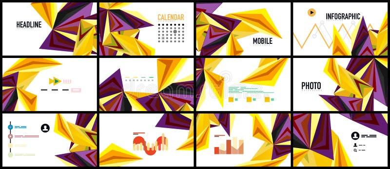 Σύγχρονο πρότυπο παρουσίασης τριγώνων ελεύθερη απεικόνιση δικαιώματος