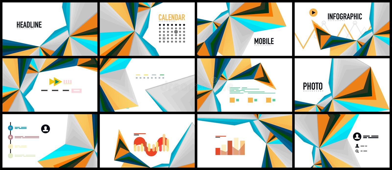 Σύγχρονο πρότυπο παρουσίασης τριγώνων απεικόνιση αποθεμάτων